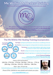 me within me healers training flyer